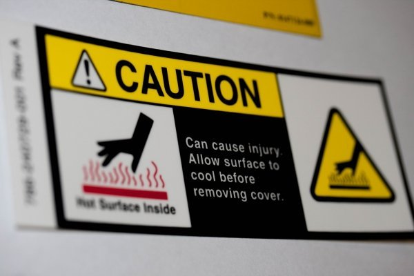 Caution People Working OSHA Safety  Sign Decal Sticker