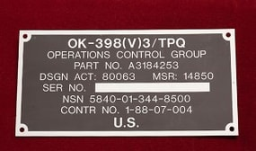 Photo-Sensitive Metal Labels & ID Plate Solutions
